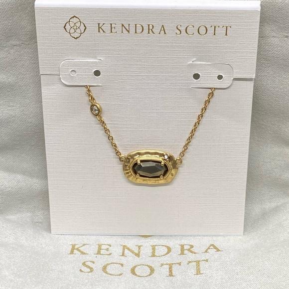 New Kendra Scott Vtg. Gold Anna in Black Pyrite